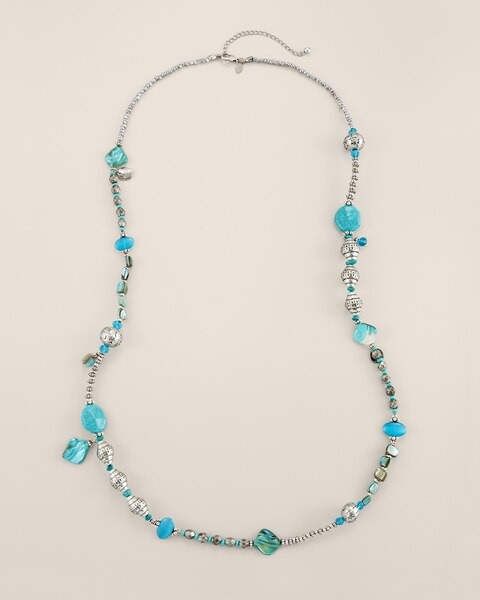 Monica Long Turquoise Necklace