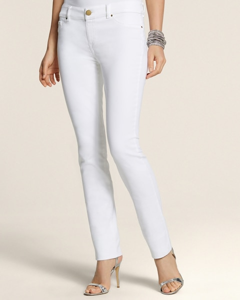 Platinum Denim Pieced Leggings