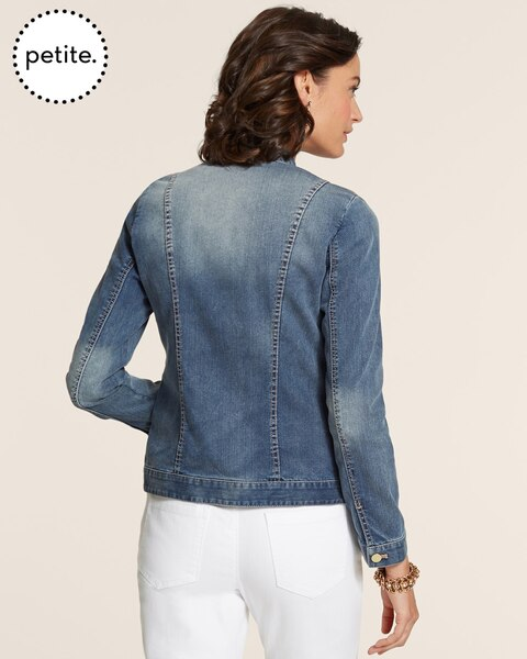 Petite Golden Paisley Denim Jacket