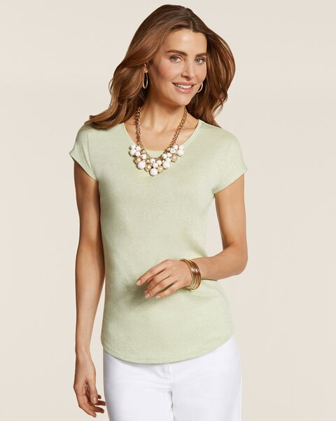 Shimmer Shirttail Tee