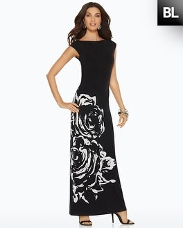 Black Label Exploded Floral Dress