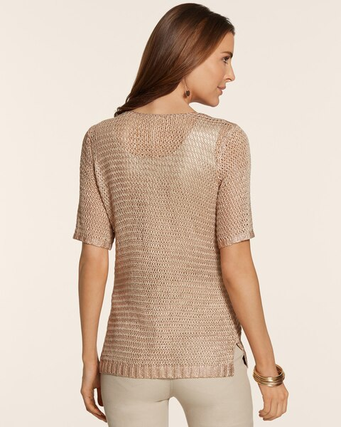 Rose Foil Lily Pullover
