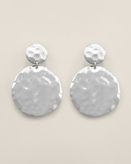 Tamera Drama Silver Clip Earrings