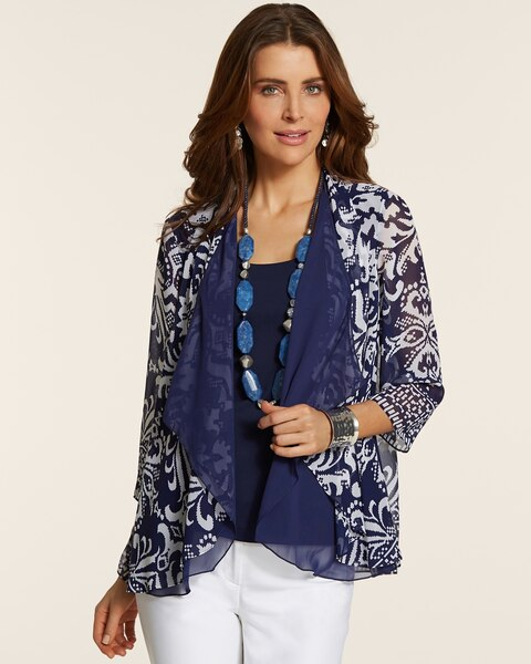 Double Layer Printed Jacket