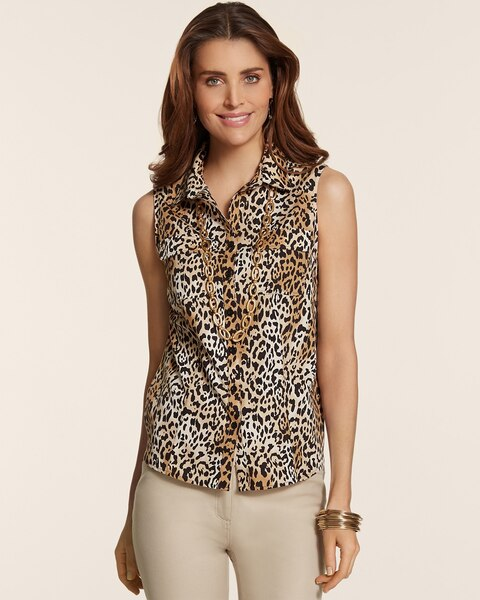 Effortless Leopard Sleeveless Kady Top