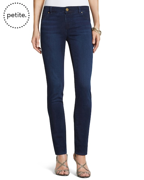 Petite Platinum Denim Deepest Blue Jeggings
