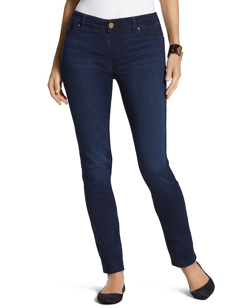 Platinum Denim Jeggings in Deepest Blue