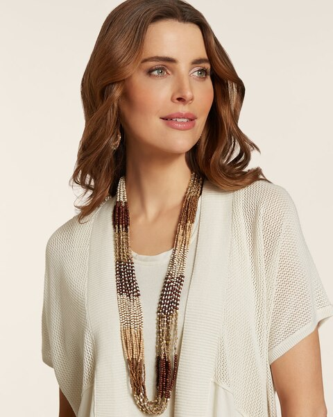 Powell Neutral Multi-Strand Necklace