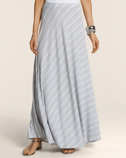 Lurex Stripe Bias Cut Molly Skirt