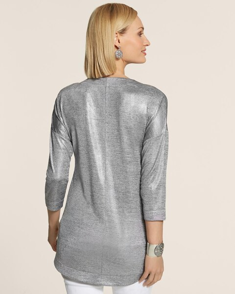 Knit Kit Melange Foil Tunic