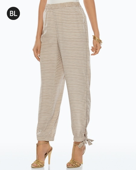 Black Label Horizontal Striped Pants