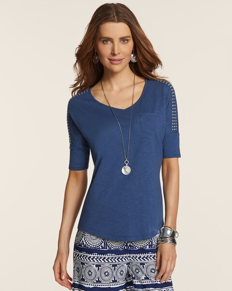 Elora Studded Shoulder Top