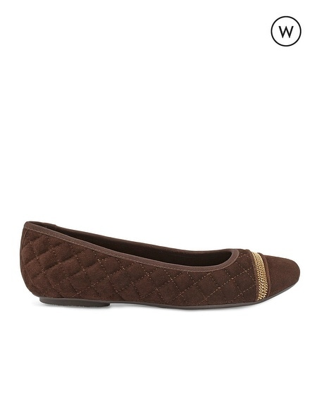 Spice Ballet Wide Chocolate Flat