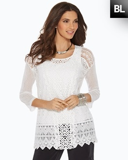 Black Label Intricate Lace Tunic