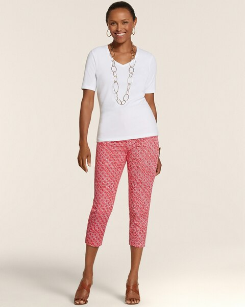 Diamond Filigree Serene Stretch Crop
