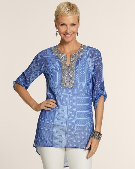Geo Blues Andi Top