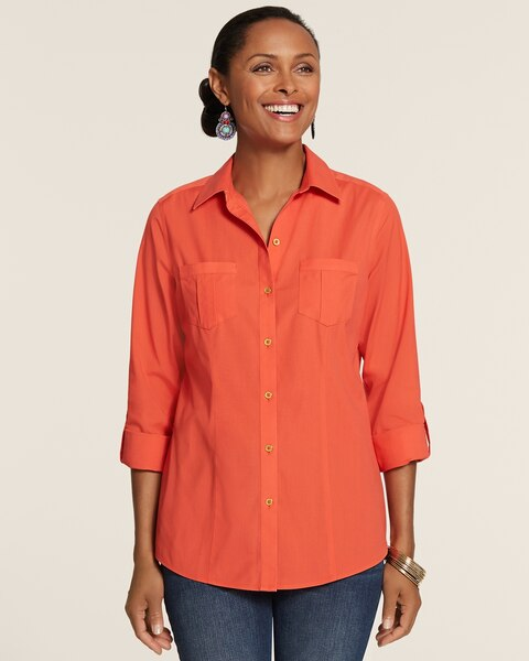 Effortless Easy Cotton Amey Button-Up Shirt