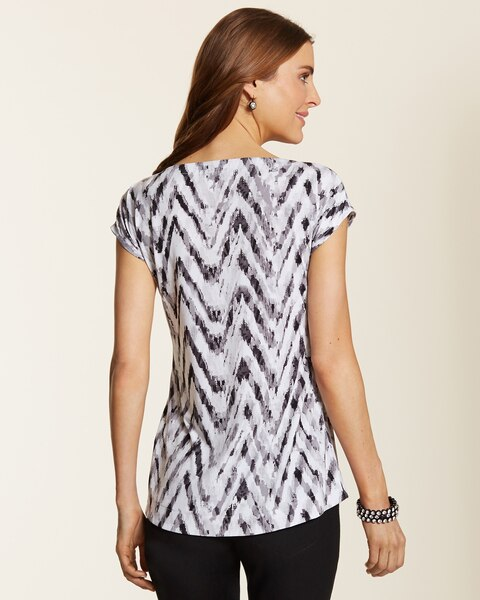 Knit Kit Abstract Chevron Top