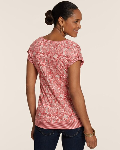 Endless Medallions Kaylee Scoopneck Short-Sleeve Jersey Top