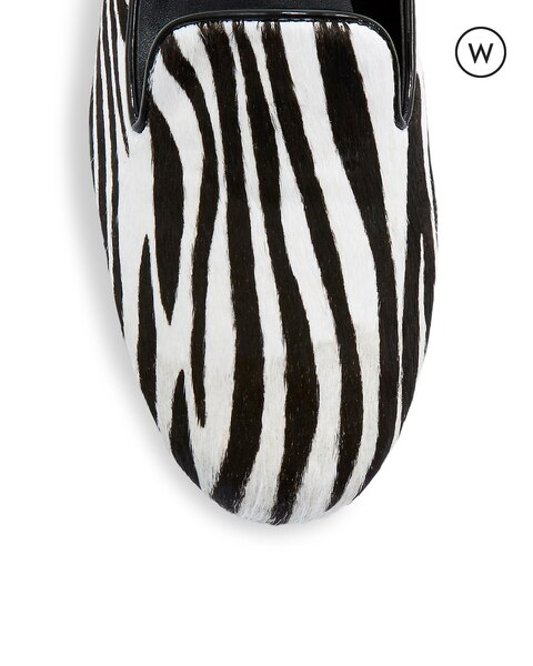 Aleen Wide Zebra Loafer
