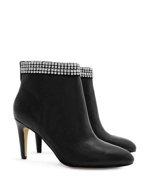 Black Glitzy Ankle Boots