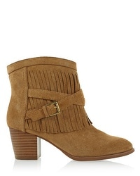Suede Fringe Ankle Boot