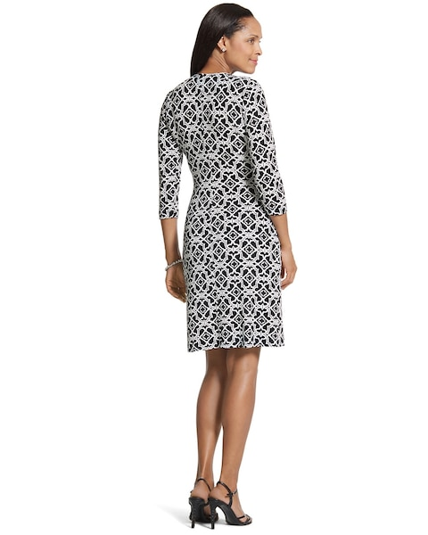 Mixed Mosaic Rosemary Wrap Dress