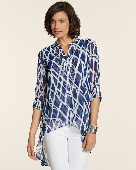 Graphic Blues Tula Top