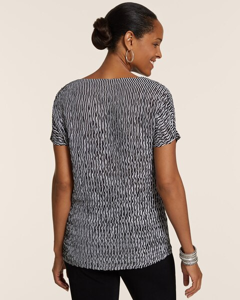 Crushed Short-Sleeve Top