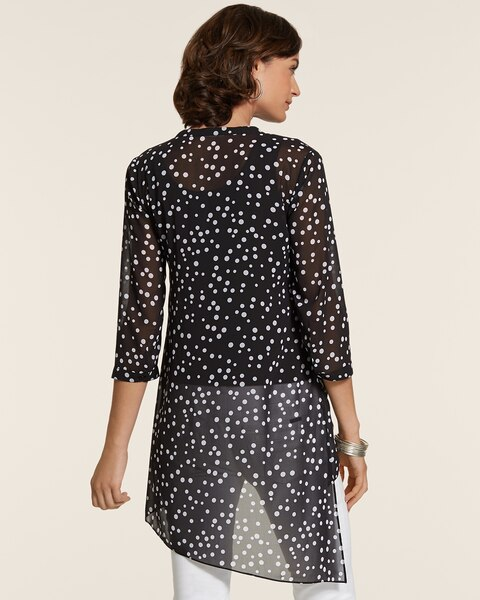 Dynamic Dots Tulia Asymmetrical Sheer Top
