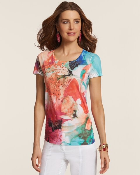 Floral Melody Ruched Raye Tee
