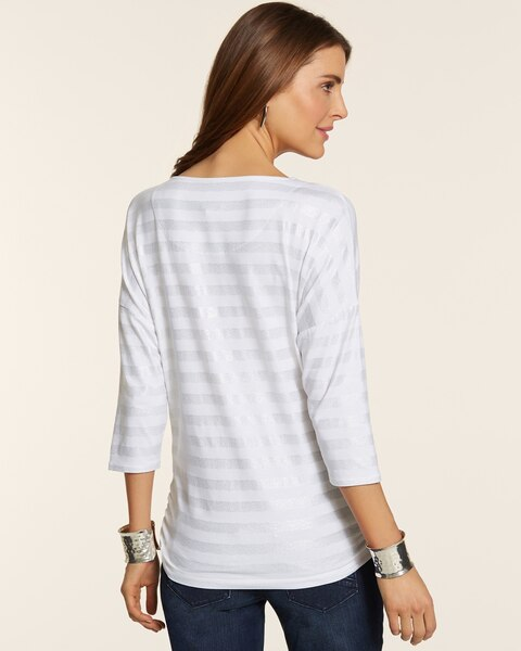 Silver Stripe Karissa Top