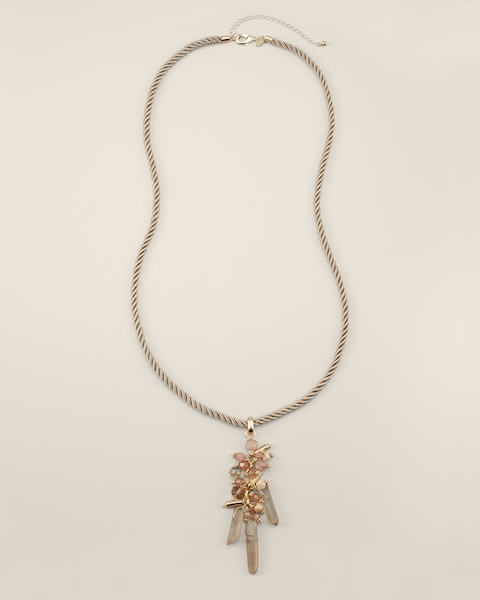Mae Long Neutral Tassel Necklace