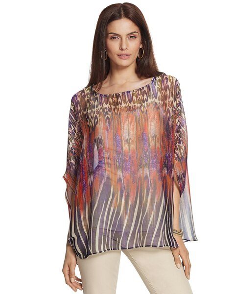 Electric Zebra Chloe Boat Neck Poncho