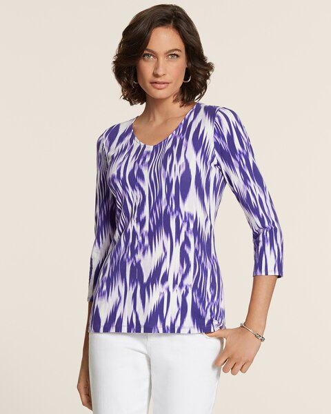 Shifted Ikat Smooth Valentina Top