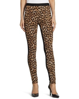 Natural Leopard Ponte Leggings