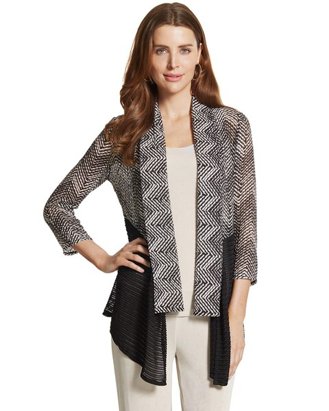 Chevron Colorblock Jacket