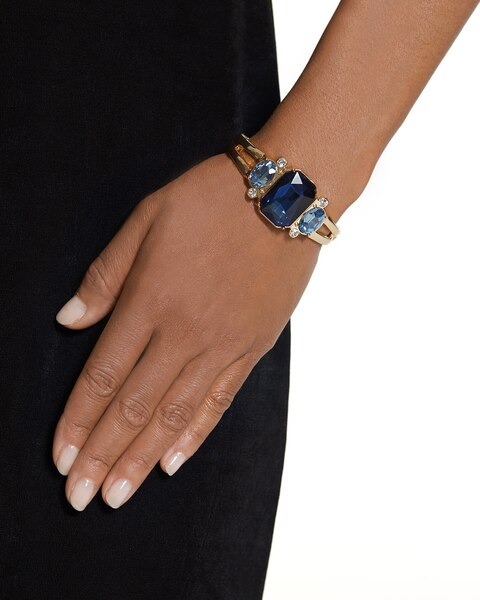 Whitney Blue Modern Bangle