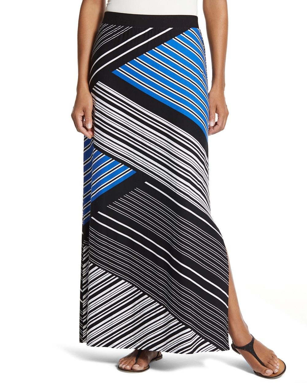 1b64fd0439 Spliced Stripe Column Skirt - Chico's