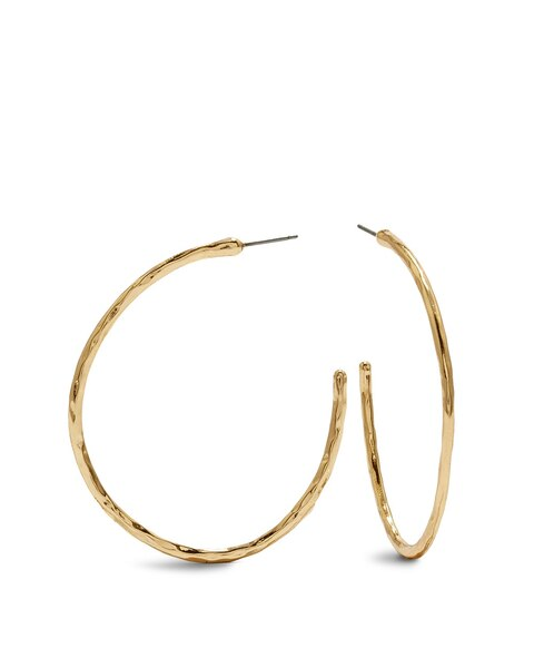 Demi Thin Gold Hoop Earrings