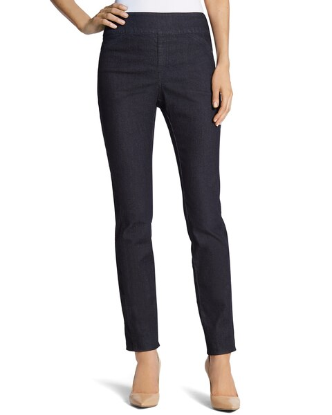 Seamed Jeggings in Rinse Wash