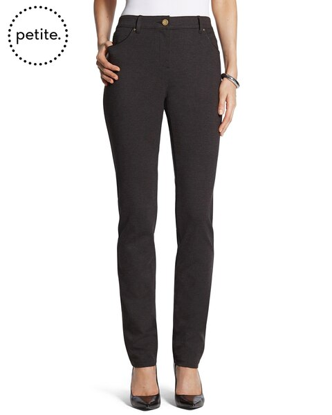 Petite So Slimming By Chico's Charcoal Heather Peyton Pants