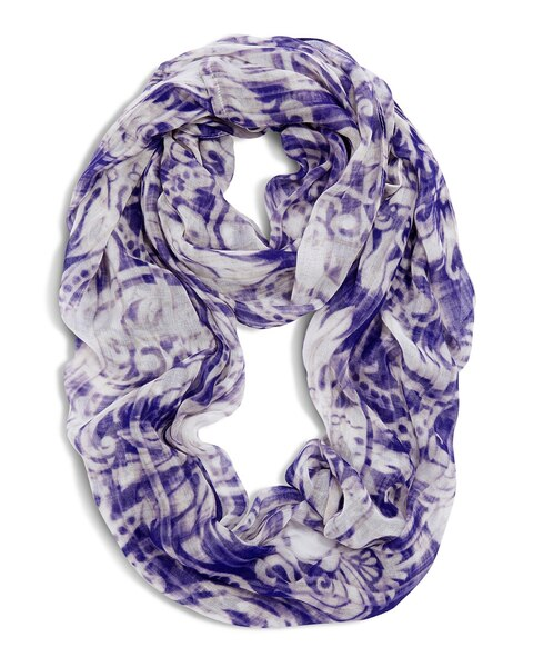 Striped Scrolls Infinity Scarf