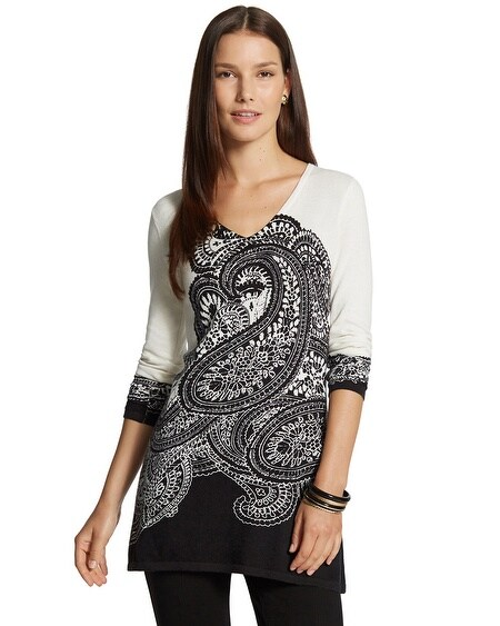 Placed Paisley Rachel Pullover