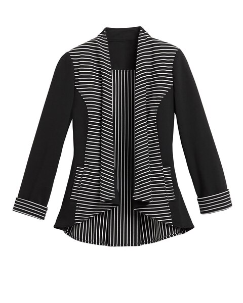 Stripe Knit Jamie Jacket