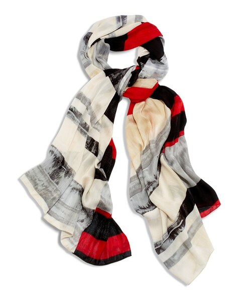 Edgy Brush Strokes Scarf