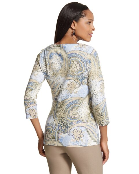 Casual Paisley Smooth Scoop Top
