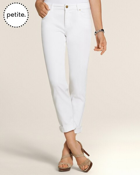 Petite Platinum Denim Optic White Boyfriend Jeans