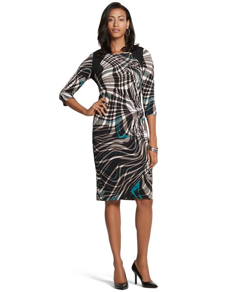 Ruched Swirl Stacey Dress