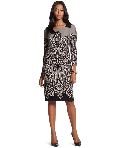 Scroll Print Suzanne Dress